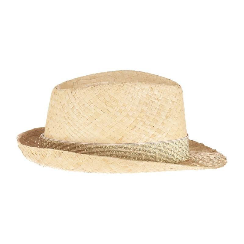 Chapeau panama femme avec ruban