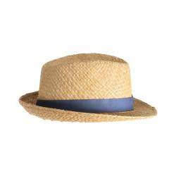 Chapeau de paille naturel avec ruban artisanat italien