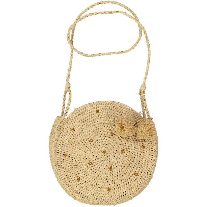 Round raffia handbag