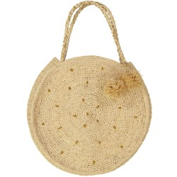 Large round basket bag