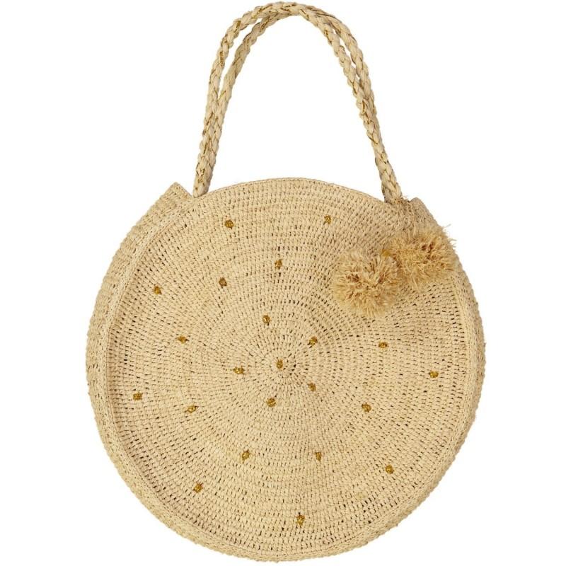 Large round basket bag