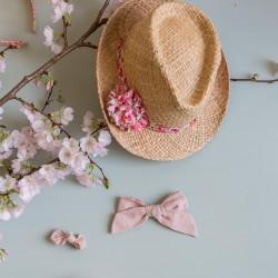 Chapeau de paille d'Italie avec ruban