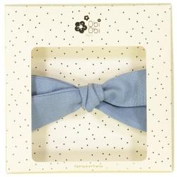 Large linen bow hair clip girls women accessories blue jean