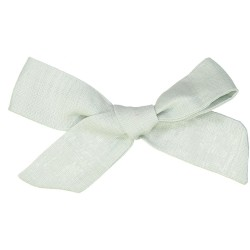 Large linen bow hair clip girls women accessories green aqua