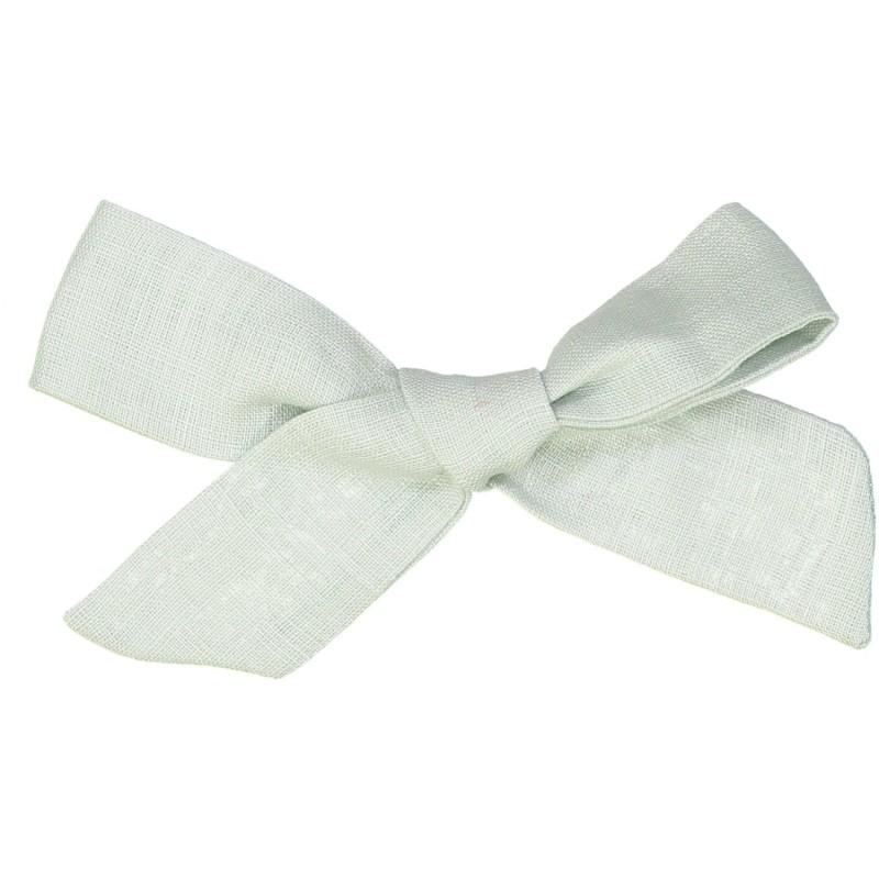 Large linen bow hair clip girls women accessories green aqua