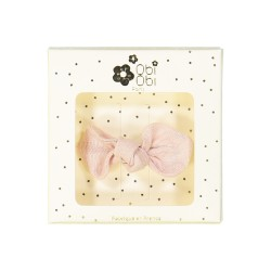 ballerina pink bow non-slip hair clip girls accessories