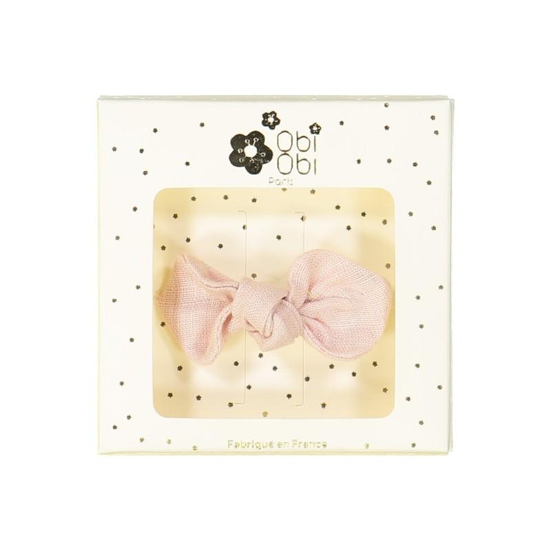 ballerina pink bow non-slip hair clip girls accessories