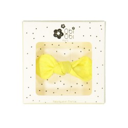 yellow lemon linen bow hair clip girls accessories