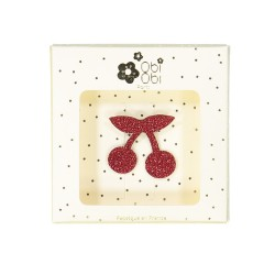 Broche fruit cerise rouge enfant