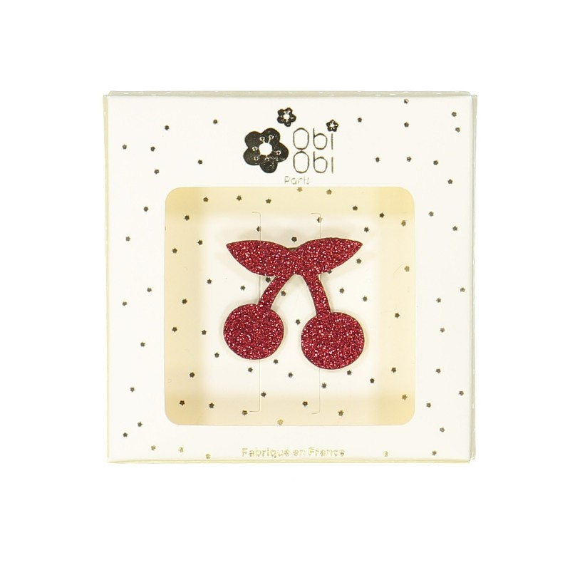 Red cherry brooch
