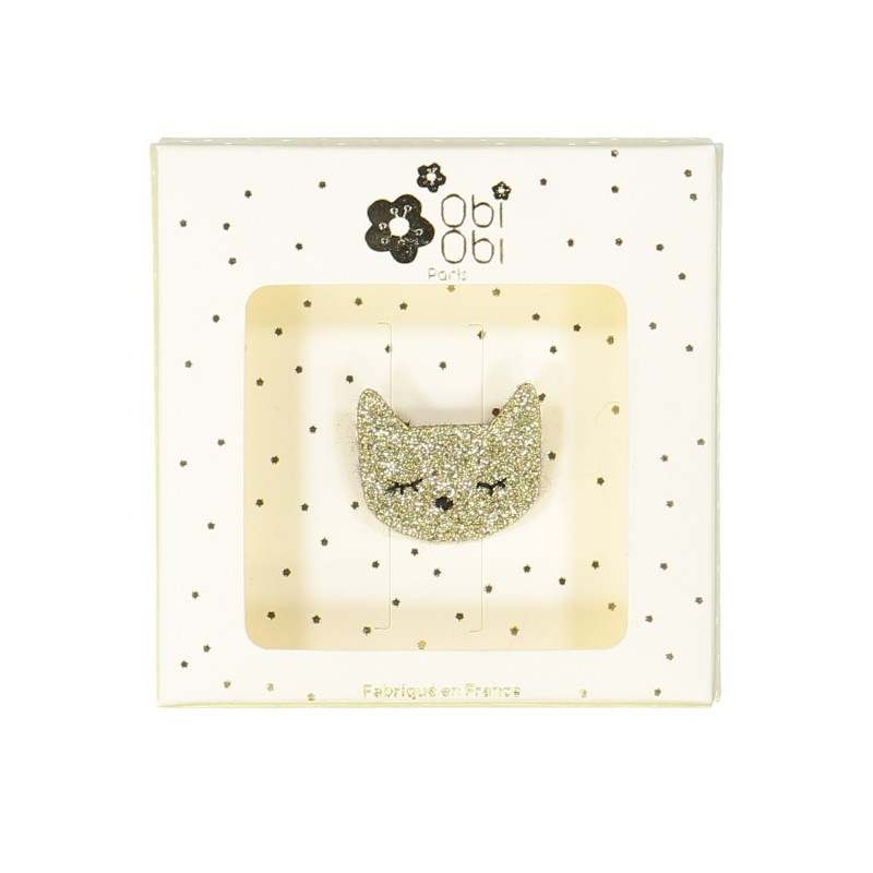 Cat brooch gold