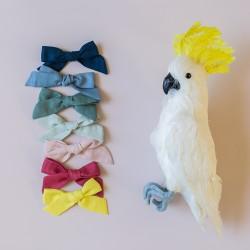 XXL linen bow hair clip girls women accessories
