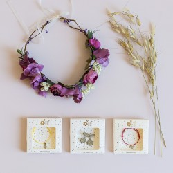 Flower Crown Wedding Purple