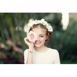 couronne de fleur blanche mariage couronne de fleur enfant cortege mariage couronne fleur demoiselle honneur- style boheme