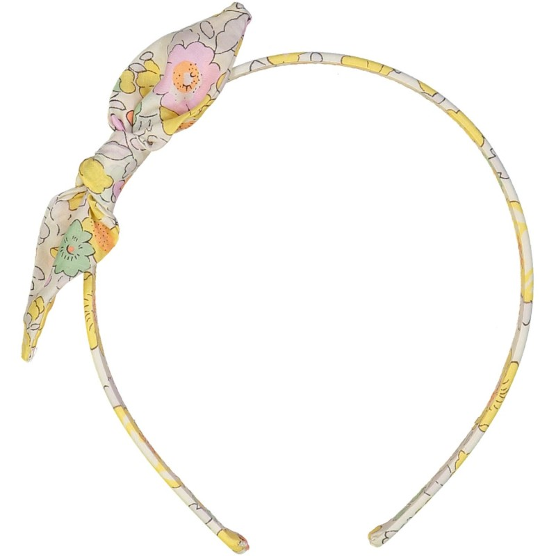 Liberty headband yellow hair accessory for girls