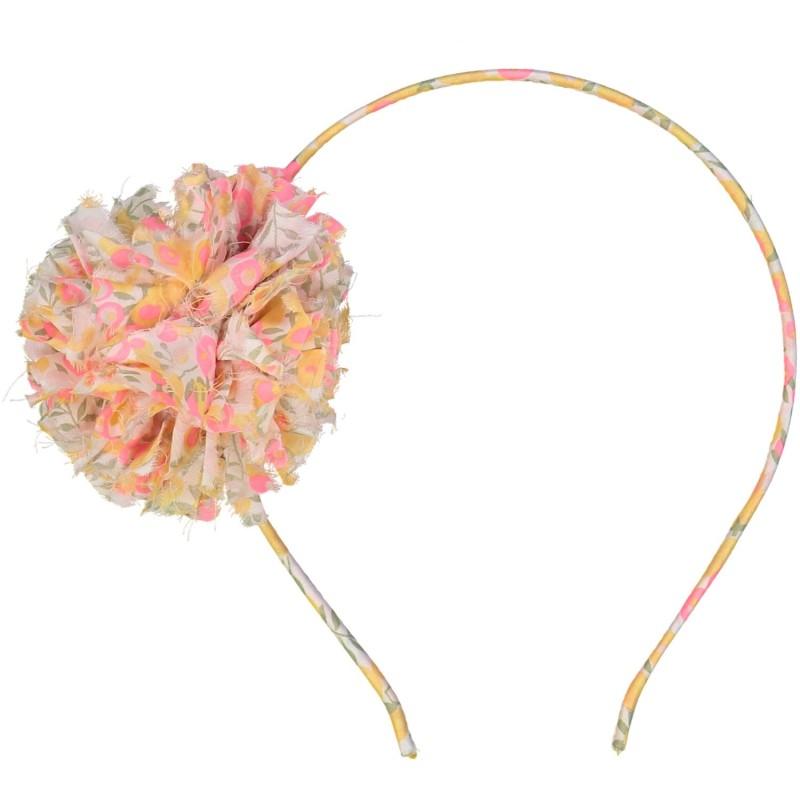 Liberty headband with pom poms for girls