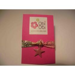 Bracelet enfant Liberty Happy Pink breloque étoile