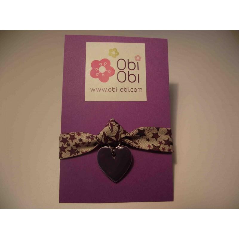 Bracelet enfant Liberty Violet Star avec coeur émaillé violet