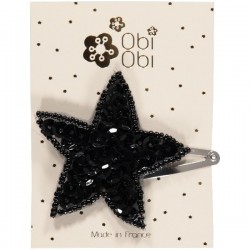 Set of 12 Sequin Star Hairclips. Mix 2 colors.