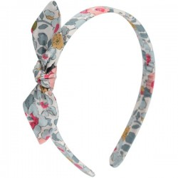 Blue Flower Liberty Bow Head Band