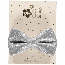 Set of 12 Glitter Bow Hairclips. Mix 2 colors.