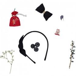 Set of 6 Japanese fabric Bow Headbands. Mix 3 colors.