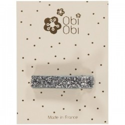 Lot de 12 Barrettes Glitter anti-glisse. Mix or et argent.