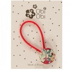 Cherry XXL Liberty Button Hairband