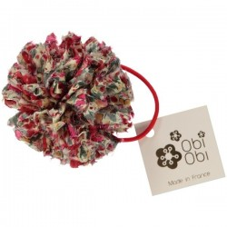 Cherry Maxi Pom Liberty Hair Band