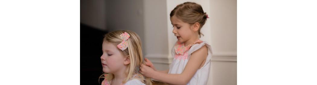 Barrettes cheveux enfant pailletées ou en tissu fabriquées en France